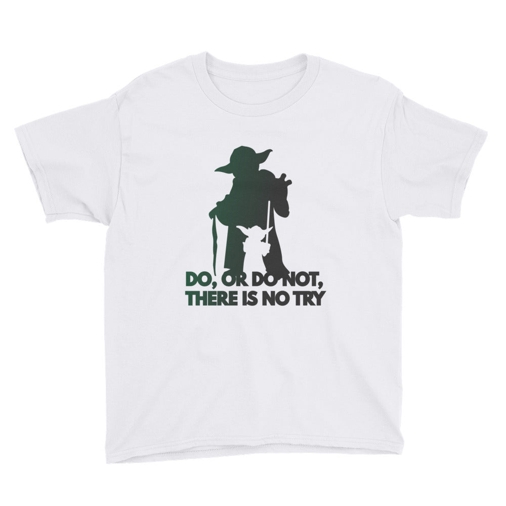 """Do, Or Do Not, There Is No Try"" Star Wars Youth Short Sleeve T-Shirt"