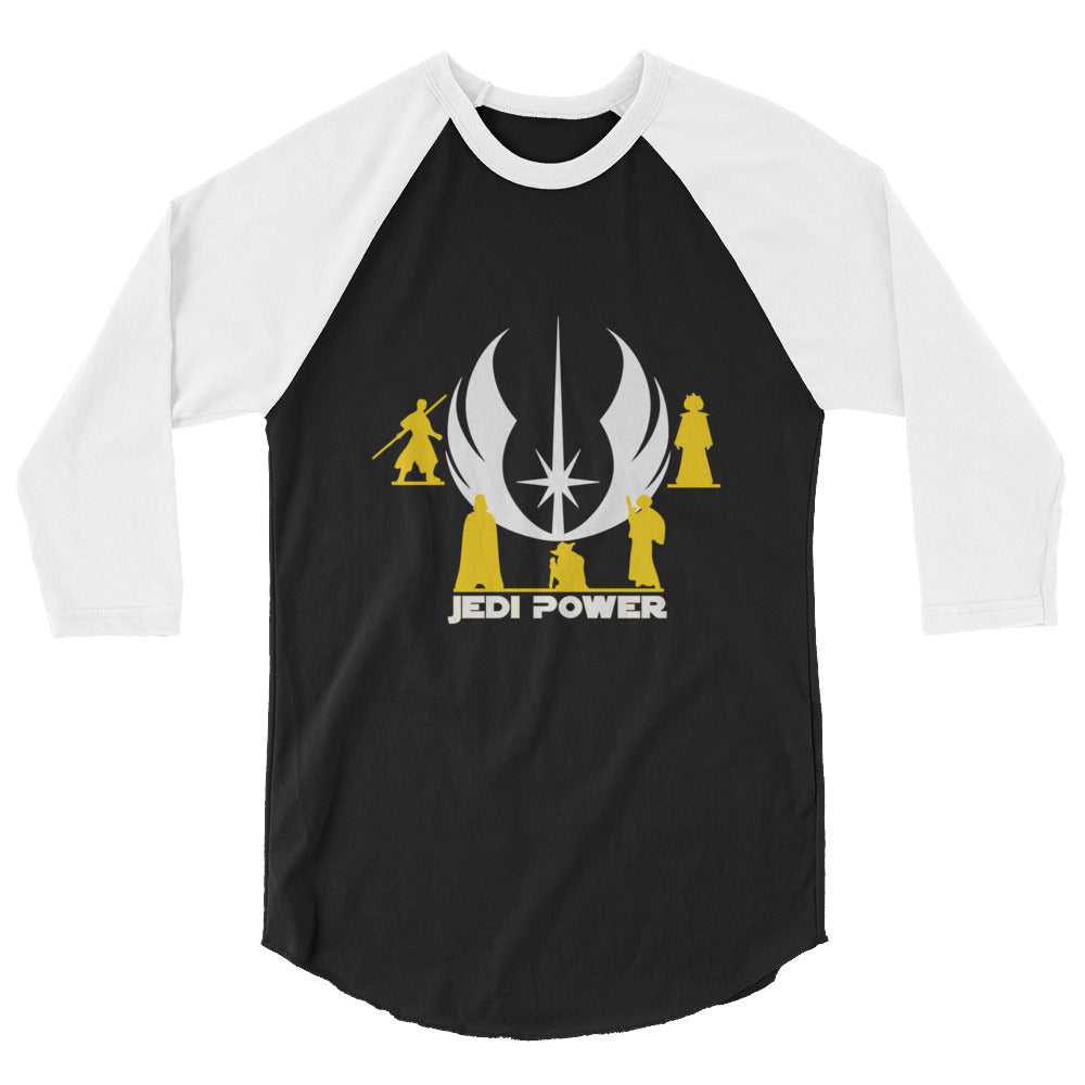 """Jedi Power"" Star Wars 3/4 Sleeve Raglan Shirt"