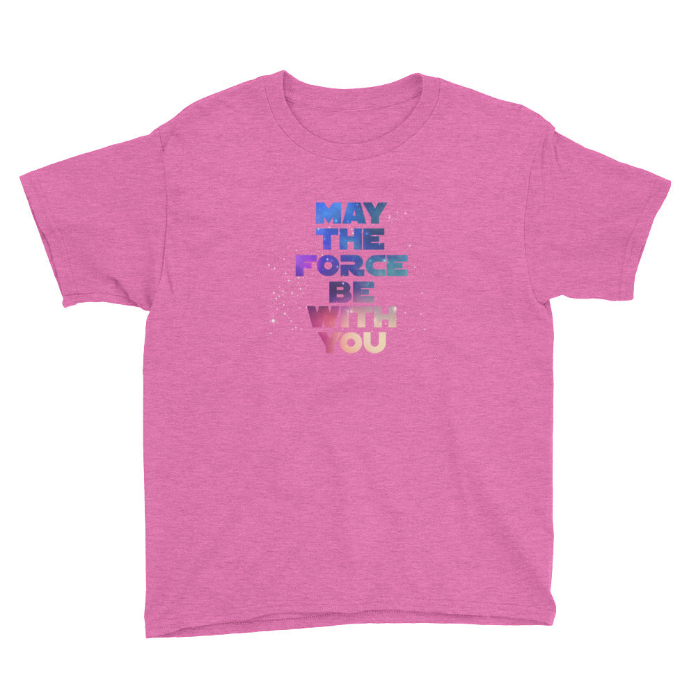 """May The Force Be With You"" Star Wars Youth Short Sleeve T-Shirt"
