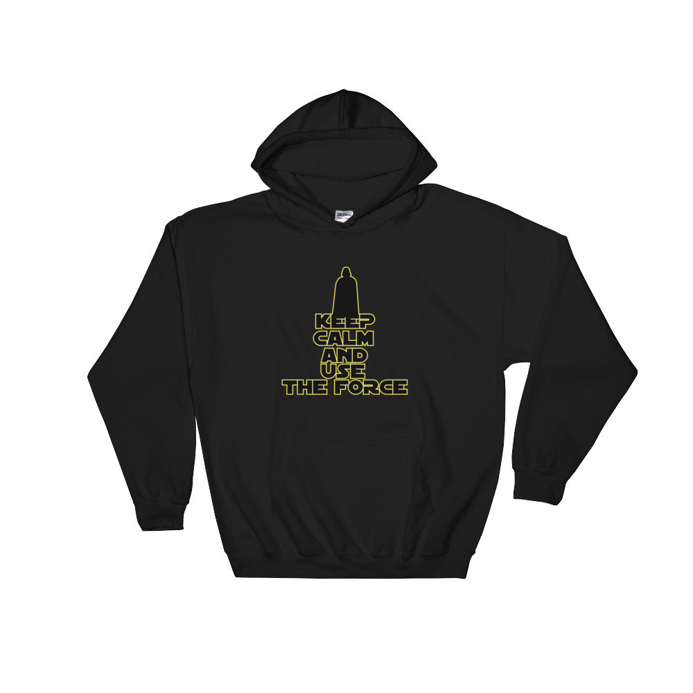 """Keep Calm And Use The Force"" Star Wars Hooded Sweatshirt"