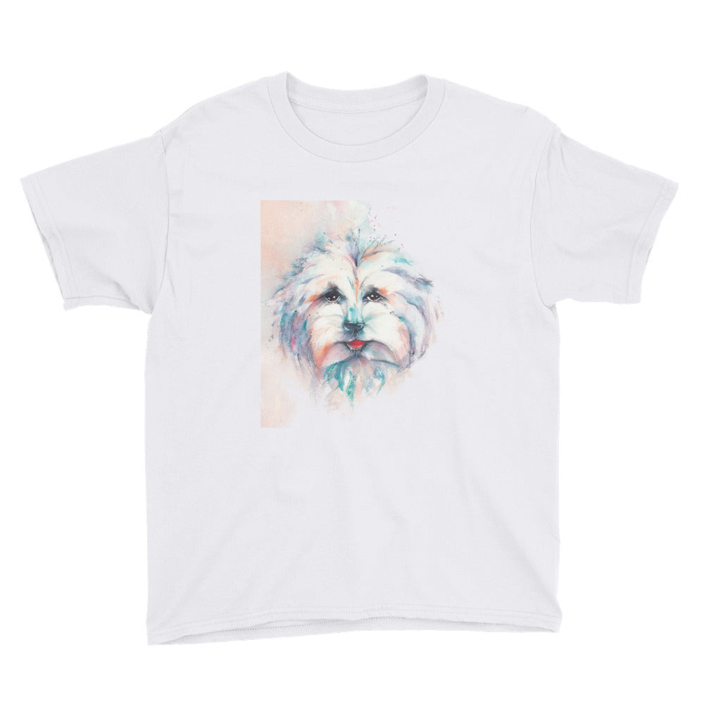 "Watercolor ""Umka The Dog"" Youth Short Sleeve T-Shirt"