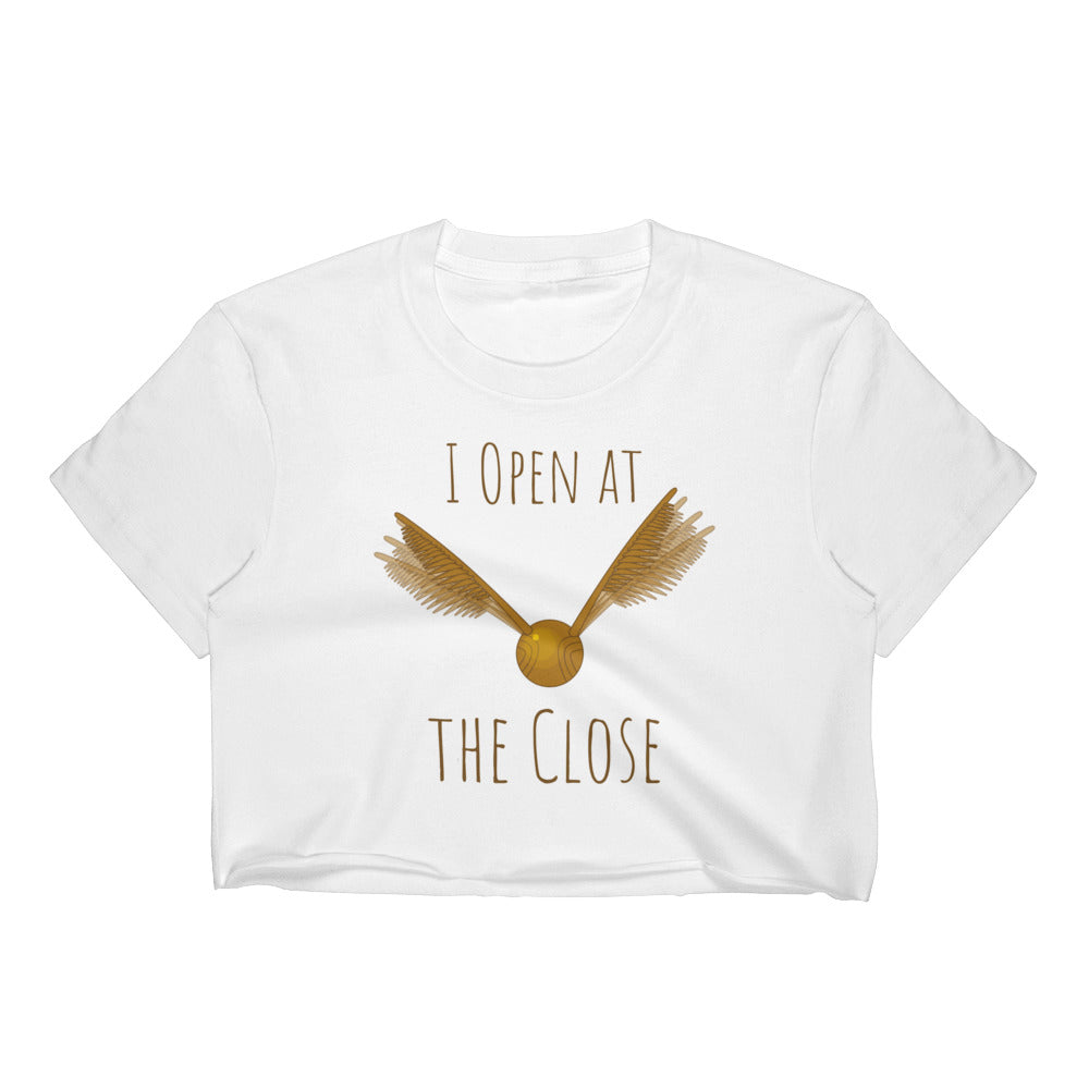 """I Open At The Close"" Harry Potter Women's Crop Top"
