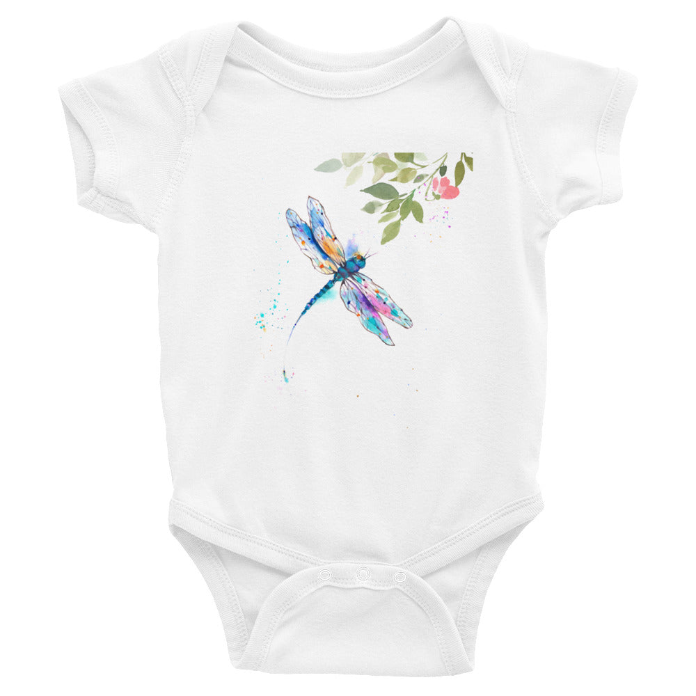 Watercolor Dragonfly III Infant Bodysuit