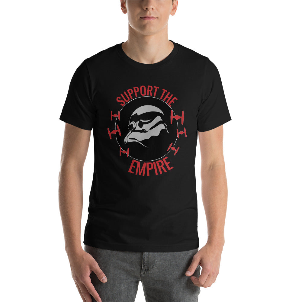 """Support The Empire"" Star Wars Short Sleeve Unisex T-Shirt"