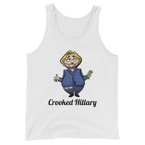 """Crooked Hilary"" Political Parody Unisex Tank Top"