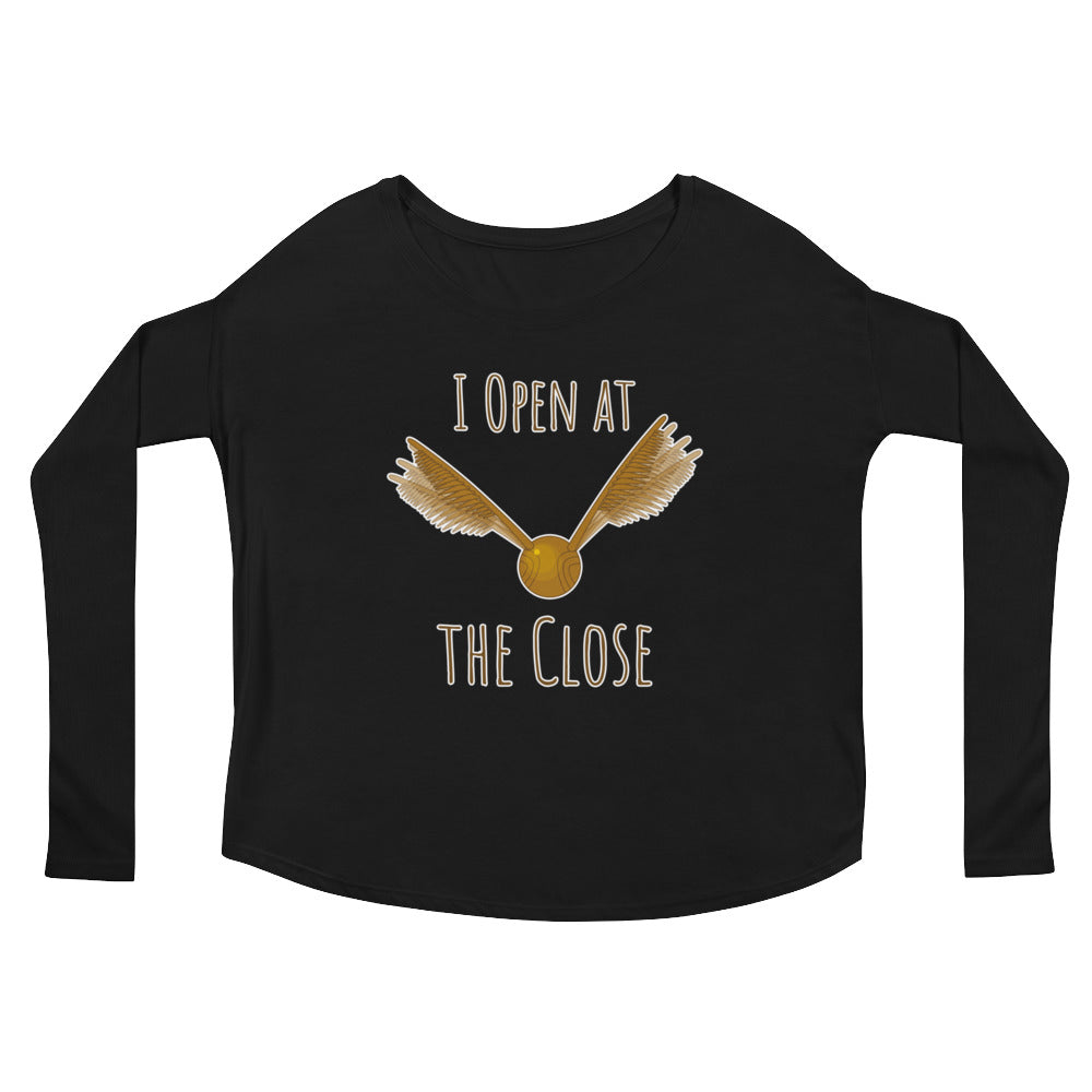 """I Open At The Close"" Harry Potter Ladies' Long Sleeve Tee"