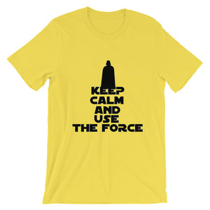 """Keep Calm And Use The Force"" Star Wars Short-Sleeve Unisex T-Shirt"