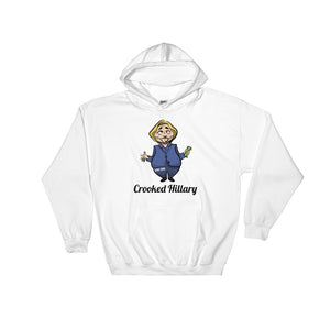 """Crooked Hilary"" Political Parody Hooded Sweatshirt"
