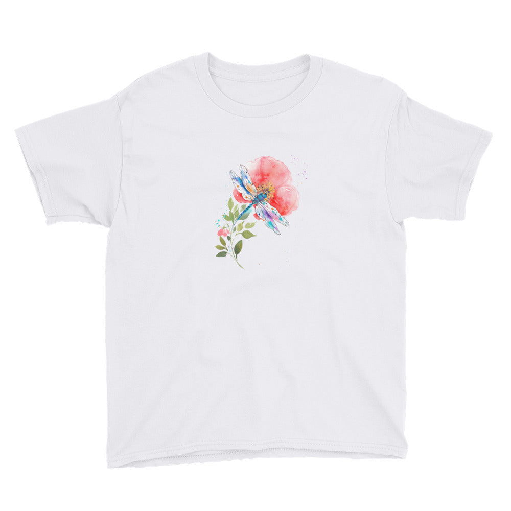 Watercolor Dragonfly I Youth Short Sleeve T-Shirt