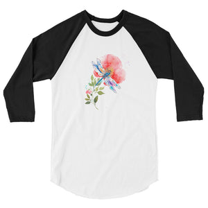 Watercolor Dragonfly I 3/4 Sleeve Raglan Shirt