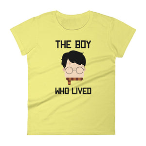 """The Boy Who Lived"" Harry Potter Women's Short Sleeve T-Shirt"