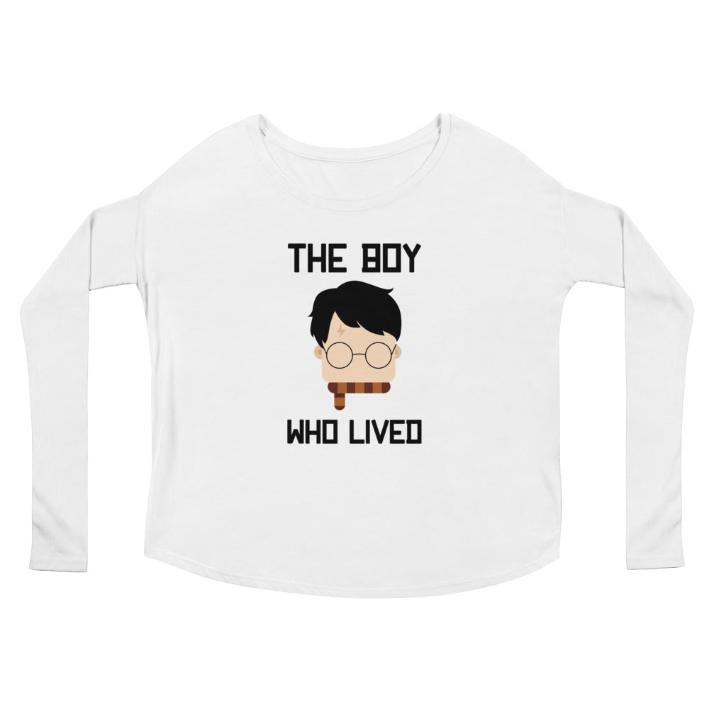 """The Boy Who Lived"" Harry Potter Ladies' Long Sleeve Tee"