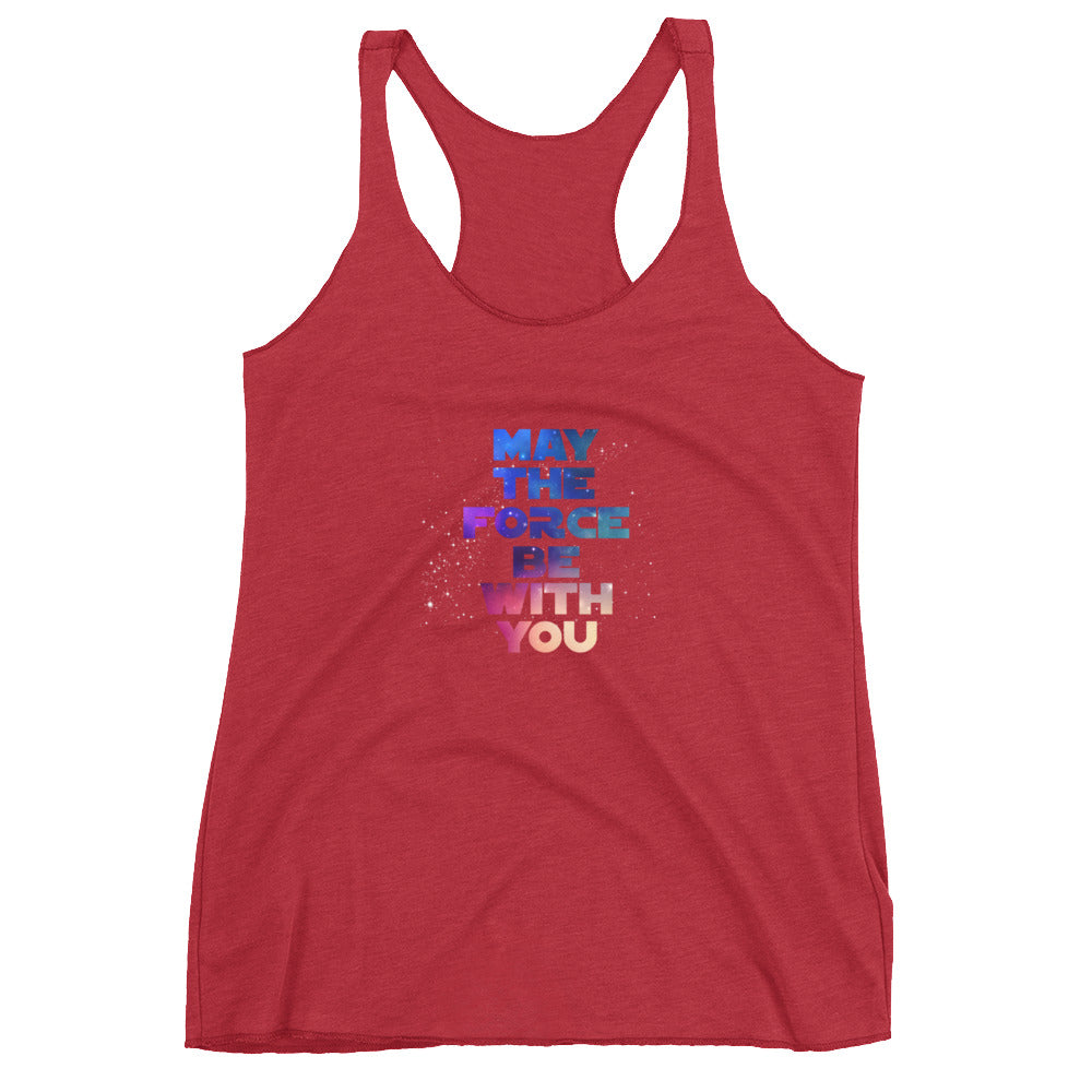 """May The Force Be With You"" Star Wars Women's Racerback Tank"