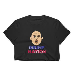 """Drumpf Nation"" Political Parody Women's Crop Top"