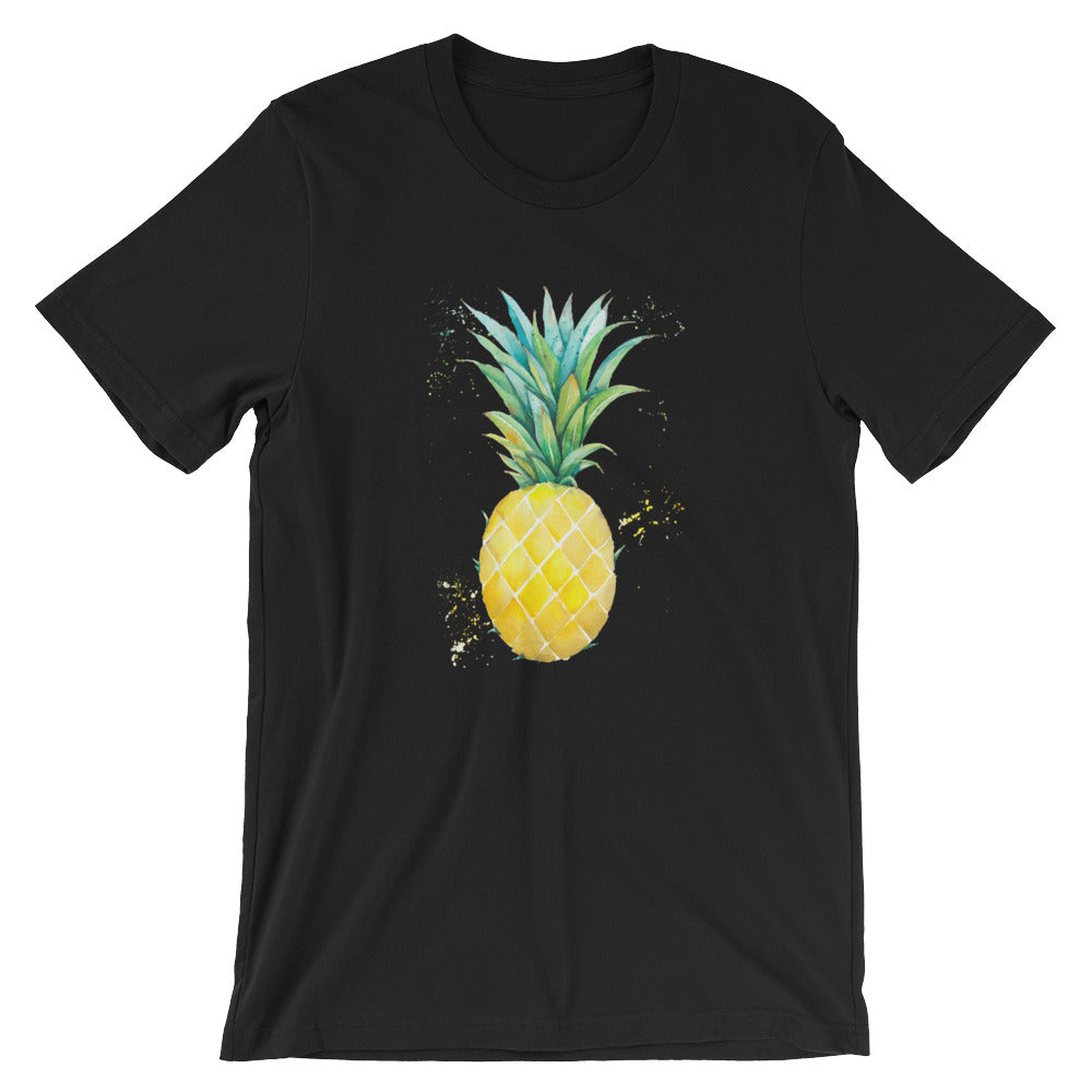 Watercolor Pineapple Short-Sleeve Unisex T-Shirt
