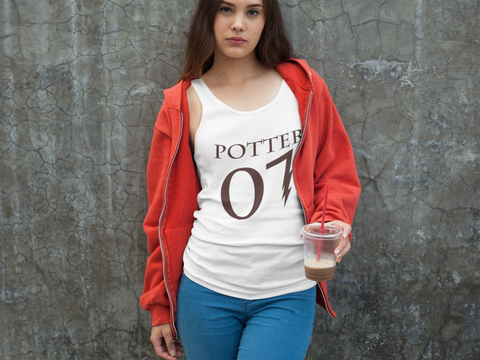 """Potter 07"" Harry Potter Women's Racerback Tank"