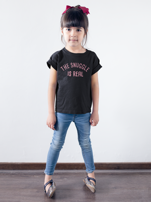 """The Snuggle Is Real"" Youth Short Sleeve T-Shirt"