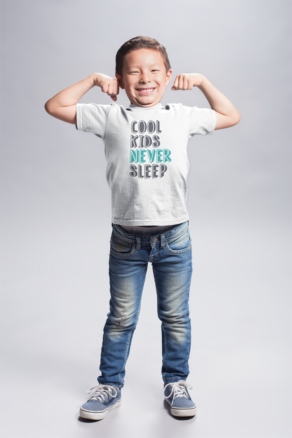 """Cool Kids Never Sleep"" Youth Short Sleeve T-Shirt"