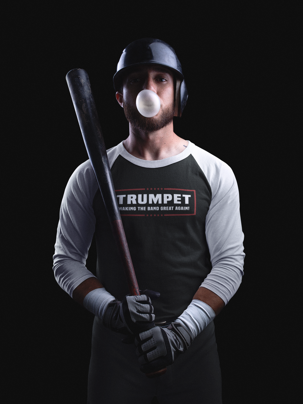 """Trumpet - Making The Band Great Again"" Political Parody 3/4 Sleeve Raglan Shirt"