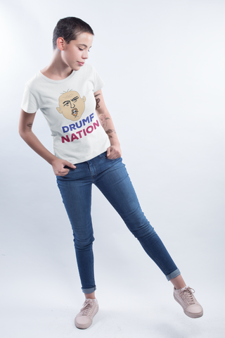 """Drumf Nation"" Political Parody Women's Short Sleeve T-Shirt"