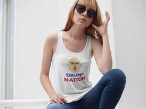 """Drumf Nation"" Political Parody Women's Racerback Tank"