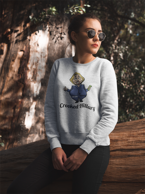 """Crooked Hilary"" Political Parody Ladies' Long Sleeve Tee"