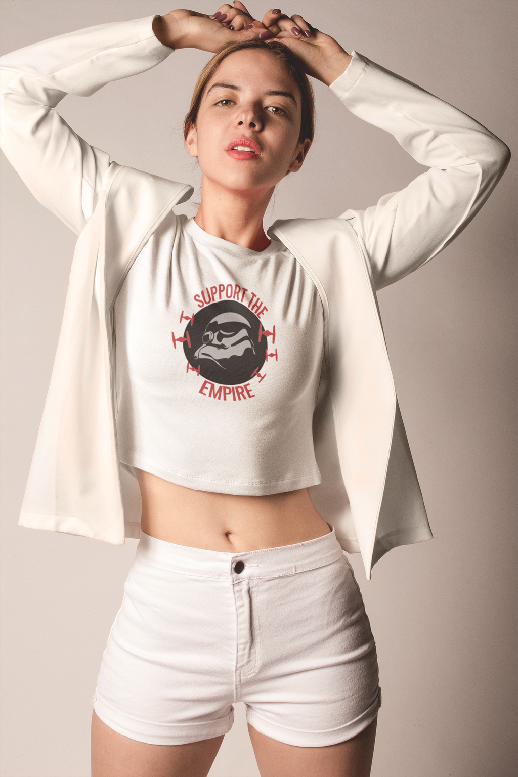 """Support The Empire"" Star Wars Women's Crop Tee"
