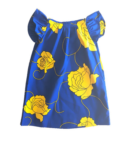 Yellow Floral Amenity Dress