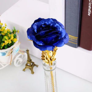 24k Gold Rose Flower