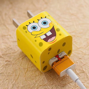 SpongeBob iPhone Charger Stickers Spocket App