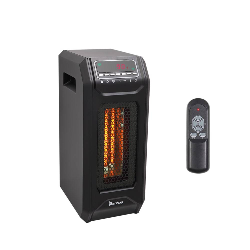 Infrared Space Heater | ZOKOP Electric Heater - Black/1500W