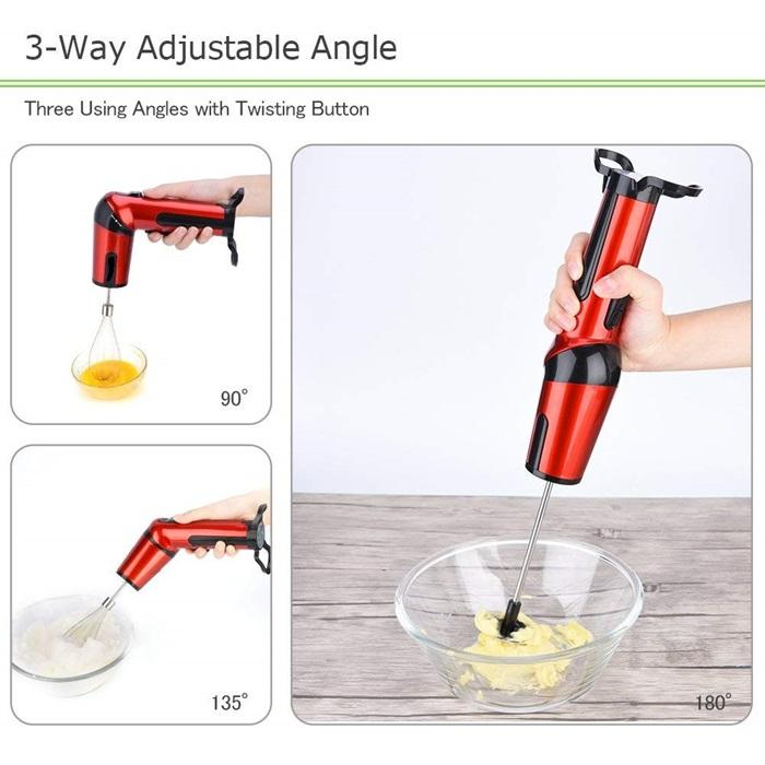 Battery Operated Hand Mixer Wonderper Cordless Electric Egg Beater - KTsale