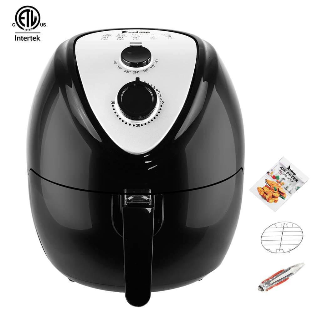 Air Cookers | 5.6 Quart 1800 Watt Black ZOKOP Air Fryer