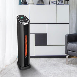 Tower Heater | ZOKOP Infrared Quartz Heater - Black/1500W