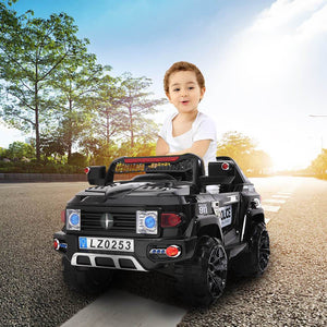 12V Police Car / Black (Aged 3-7 Years)