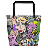 """the Contemplation of Thoth"" All-Over Beach Bag"
