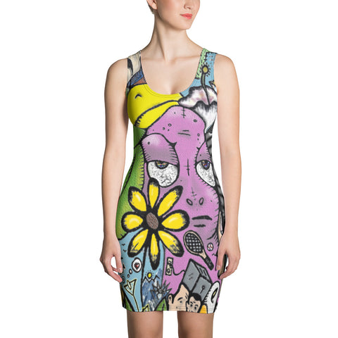 """Contemplations of Thoth"" All-Over Print Dress"