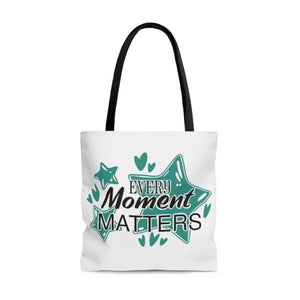 AOP Tote Bag- Every Moment Matters - Little Treasures LLC