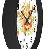 Wall clock- Floral spray - Little Treasures LLC