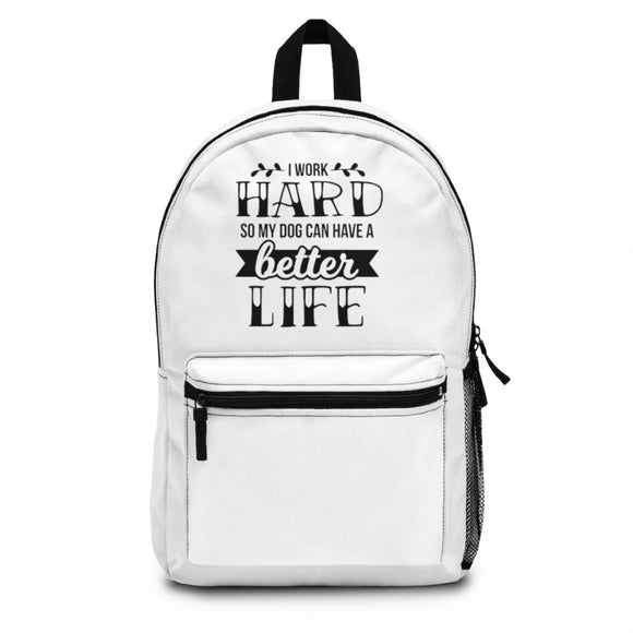 Backpack (Made in USA) - I work hard - Little Treasures LLC