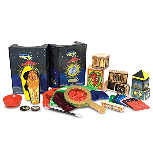 Melissa & Doug Deluxe Magic Set (Kids Magic Set, 10 Classic Tricks, Step-By-Step Instructions, 3.8