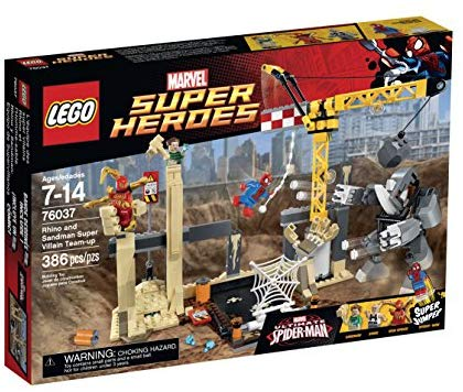LEGO Super Heroes 76037 Rhino and Sandman Super Villain Team-Up Building Kit: Toys & Games - Little Treasures LLC