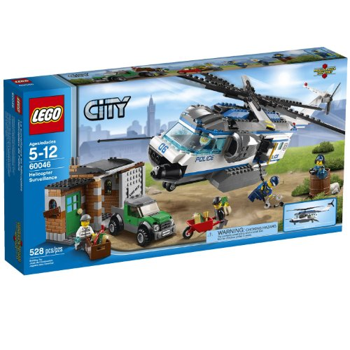 LEGO City Police Helicopter Surveillance Building Set 60046: Toys & Games - Little Treasures LLC