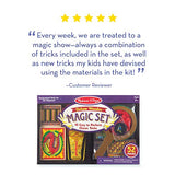 "Melissa & Doug Deluxe Magic Set (Kids Magic Set, 10 Classic Tricks, Step-By-Step Instructions, 3.8"" H x 14.1"" W x 9.6"" L, Great Gift for Girls and Boys - Best for 8, 9, 10 Year Olds and Up):"