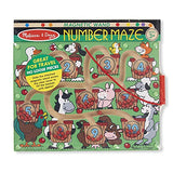 Melissa & Doug Magnetic Wand Number Maze (Developmental Toys, Wooden Activity Board, Develops Multiple Skills, Great Gift for Girls and Boys - Best for 3, 4, and 5 Year Olds): Melissa & Doug: