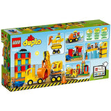 LEGO DUPLO Big Construction Site 10813 Building Set with Toy Dump Truck, Toy Crane and Toy Bulldozer for a complete Toddler Construction Toy Set (67 Pieces): Toys & Games - Little Treasures L
