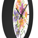 Wall clock- Floral lines - Little Treasures LLC