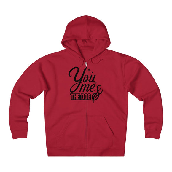Unisex Heavyweight Fleece Zip Hoodie - You me and the dog - Little Treasures LLC