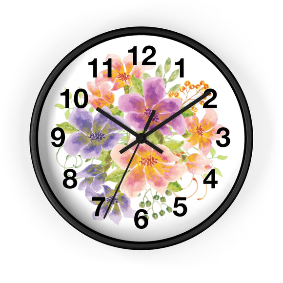 Wall clock- Floral - Little Treasures LLC