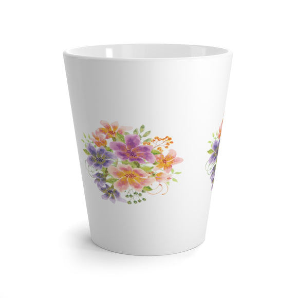 Latte mug - Floral - Little Treasures LLC